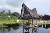 foto of minangkabau  - House on the water Samosir island lake Toba - JPG