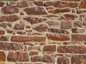 picture of fieldstone-wall  - stone wall with glossy finish - JPG