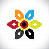 picture of six-petaled  - Concept vector graphic - JPG