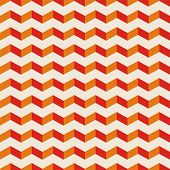 Aztec chevron vector summer seamless hot pattern, red and orange texture or background with zigzag