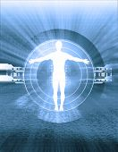 foto of human body  - conceptual illustration, male silhouette,
