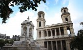 Saint-Sulpice (Iglesia de Saint-Sulpice) in Paris, France.