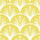 Art deco vector geometric pattern in bright yellow