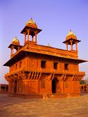 Idian monument of architecture, abandoned city, Fatehpur Sikri, Agra, India