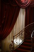 pic of spiral staircase  - Vertical color shot of a vintage spiral staircase - JPG