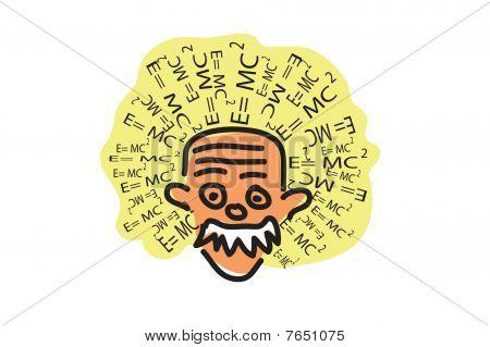 poster of Albert Einstein Head