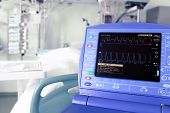 stock photo of icu  - monitor intra - JPG