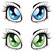 picture of manga  - Set of manga anime style eyes of different colors - JPG