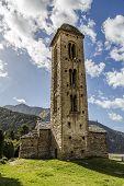 Постер, плакат: Romanesque Church Sant Miquel D Engolasters Andorra