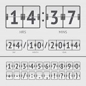 foto of countdown timer  - White countdown timer and scoreboard numbers - JPG