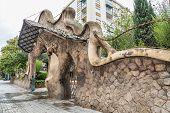 pic of gaudi barcelona  - Miralles Gate  - JPG