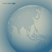 picture of mater  - Vector abstract dotted globe - JPG