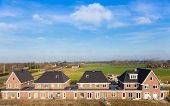 picture of row houses  - A row of new houses in the Netherlands - JPG