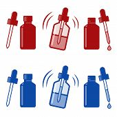 image of nose drops  - Medical Nasal Drops Antiseptic Drugs Plastic Bottle icon - JPG