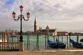 Постер, плакат: Вид на Гранд канал и Сан Джорджо Маджоре церкви в Венеции Италия
