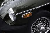 stock photo of muscle-car  - Close up of Retro Car  - JPG