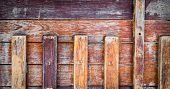 picture of wainscoting  - image of old wooden wall background  - JPG