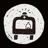 foto of ambulance  - Doodle Ambulance - JPG