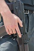 picture of kalashnikov  - Ukrainian soldier with Kalashnikov rifle - JPG