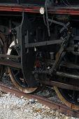 image of steam  - Old black steam locomotive - JPG