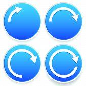 foto of semi-circle  - Eps 10 Vector Illustration of Circular arrows 1 - JPG