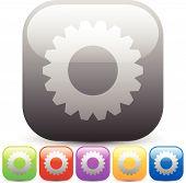 picture of rework  - Eps 10 Vector Illustration of Modern Gears cogwheels gearwheels or cog icons - JPG