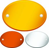 picture of plaque  - Eps 10 vector illustration of Blank Oval Gold - JPG