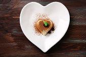 foto of panna  - Tasty panna cotta dessert on plate - JPG