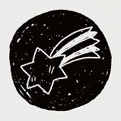 stock photo of meteor  - Doodle Meteor - JPG