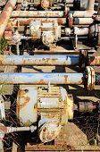 image of petroleum  - Transfer valving for fuel tanks at a small petroleum tank farm - JPG