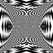 stock photo of distort  - Design monochrome movement illusion checkered background - JPG