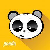 image of panda bear  - panda bear vector illustration - JPG