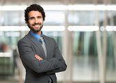 image of handsome  - Portrait of an handsome businessman - JPG
