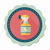 stock photo of flea  - Pet Flea Spray Flat Icon With Long Shadow - JPG