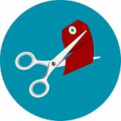 pic of scissors  - Vector illustration in flat style - JPG