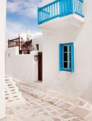 stock photo of greek-architecture  - Classical Greek architecture of the streets  - JPG