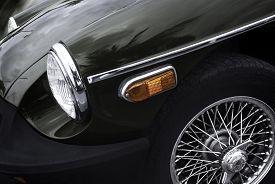 image of muscle-car  - Close up of Retro Car  - JPG