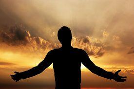 image of pray  - Man praying - JPG