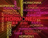picture of hormone  - Background concept wordcloud multilanguage international many language illustration of hormones glowing light - JPG