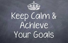 picture of you are awesome  - Motivational saying if you stay calm that you can reach your goals and achieve them - JPG