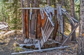 image of outhouse  - Once a double two - JPG