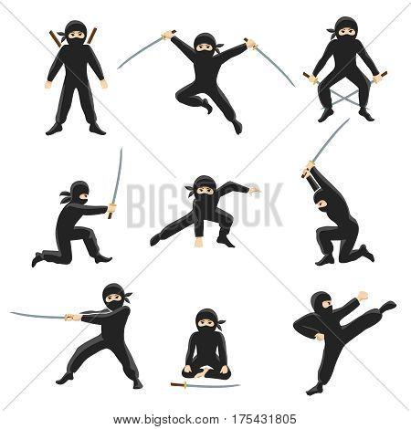 Cute cartoon ninja