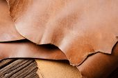 Brown Leather Texture poster