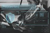 Data Security system Shield Protection Verification poster