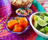 picture of poblano  - Mexican sauces pico de gallo habanero chili sauce Mexico spices - JPG