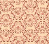 Vector seamless background Floral pattern, Damask wallpaper
