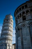 Pisa, Italy, February 26, 2017: The Leaning Tower Of Pisa poster
