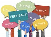 Feedback Survey Words Speech Bubble poster