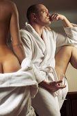 picture of seminude  - Erotic scene of semi - JPG