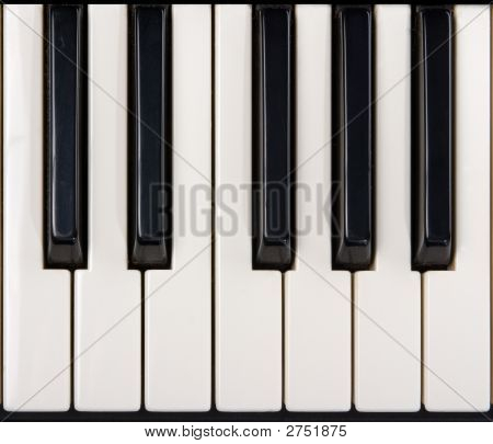 Close Up Of Piano Keys Poster